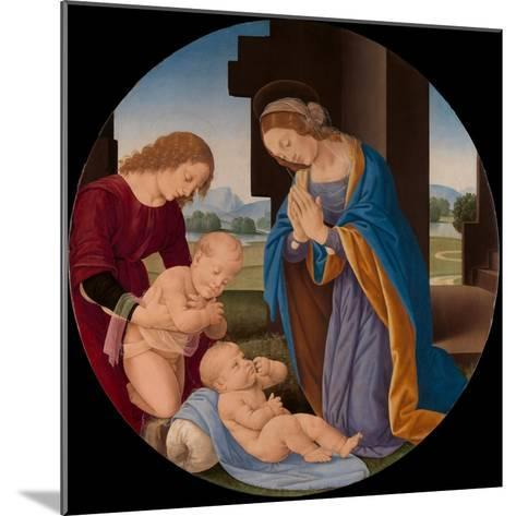 Madonna Adoring the Child with the Infant Saint John the Baptist and an Angel, c.1492-Lorenzo di Credi-Mounted Giclee Print