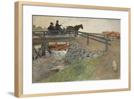 The Bridge, from 'A Home' series, c.1895-Carl Larsson-Framed Art Print