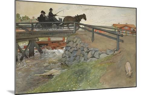 The Bridge, from 'A Home' series, c.1895-Carl Larsson-Mounted Giclee Print
