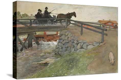 The Bridge, from 'A Home' series, c.1895-Carl Larsson-Stretched Canvas Print