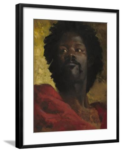 Head of a Moor, c.1870-Henri-Victor Regnault-Framed Art Print