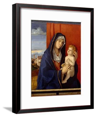 Madonna and Child, c.1485-Giovanni Bellini-Framed Art Print