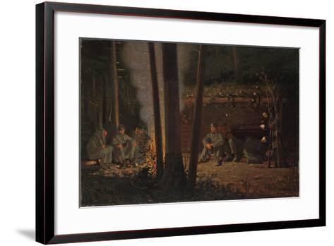 In Front of Yorktown-Winslow Homer-Framed Art Print