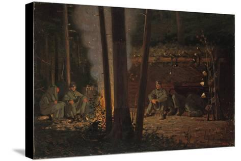In Front of Yorktown-Winslow Homer-Stretched Canvas Print