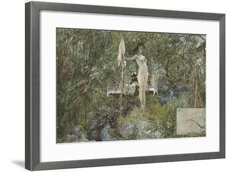 Open-Air Studio, from 'A Home' series, c.1895-Carl Larsson-Framed Art Print