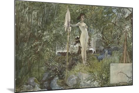 Open-Air Studio, from 'A Home' series, c.1895-Carl Larsson-Mounted Giclee Print