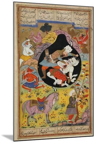Rustam Slays the White Div, 1608-Mughal School-Mounted Giclee Print