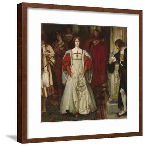 """""""Who Is Sylvia? What Is She, That All the Swains Commend Her?"""", c.1896-99-Edwin Austin Abbey-Framed Art Print"""