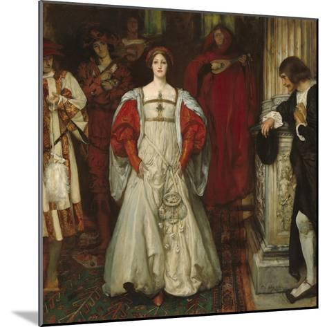 """""""Who Is Sylvia? What Is She, That All the Swains Commend Her?"""", c.1896-99-Edwin Austin Abbey-Mounted Giclee Print"""