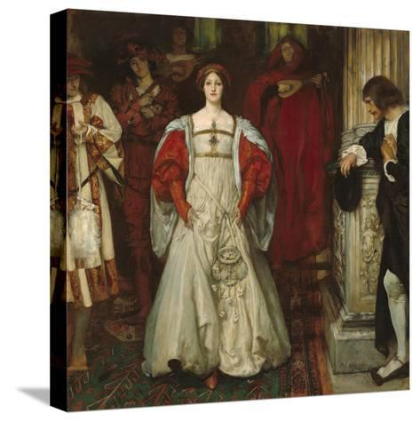 """""""Who Is Sylvia? What Is She, That All the Swains Commend Her?"""", c.1896-99-Edwin Austin Abbey-Stretched Canvas Print"""