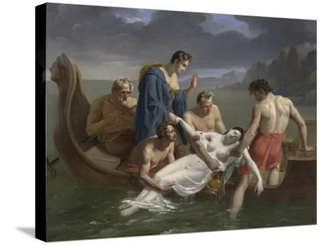 The Death of Sappho, 1819-Pierre Antoine Augustin Vafflard-Stretched Canvas Print