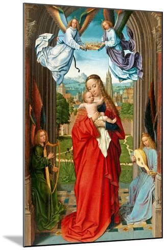 Virgin and Child with Four Angels, c.1510-15-Gerard David-Mounted Giclee Print