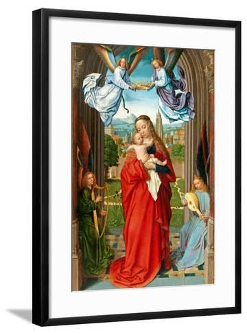 Virgin and Child with Four Angels, c.1510-15-Gerard David-Framed Art Print