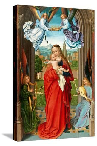 Virgin and Child with Four Angels, c.1510-15-Gerard David-Stretched Canvas Print