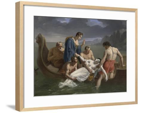 The Death of Sappho, 1819-Pierre Antoine Augustin Vafflard-Framed Art Print