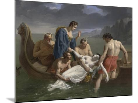 The Death of Sappho, 1819-Pierre Antoine Augustin Vafflard-Mounted Giclee Print