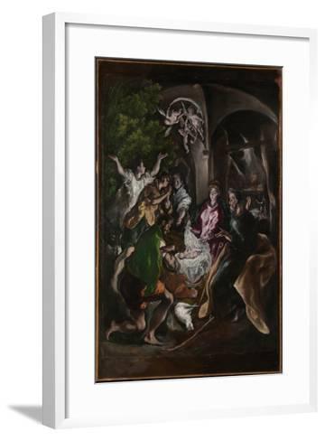 The Adoration of the Shepherds, c.1605-10-El Greco-Framed Art Print