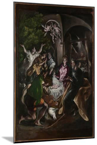 The Adoration of the Shepherds, c.1605-10-El Greco-Mounted Giclee Print
