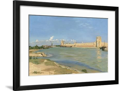 The Ramparts at Aigues-Mortes, 1867-Jean Frederic Bazille-Framed Art Print