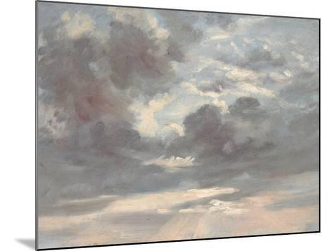 Cloud Study: Stormy Sunset, 1821-2-John Constable-Mounted Giclee Print