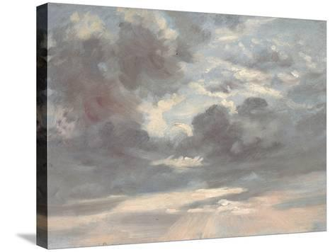 Cloud Study: Stormy Sunset, 1821-2-John Constable-Stretched Canvas Print