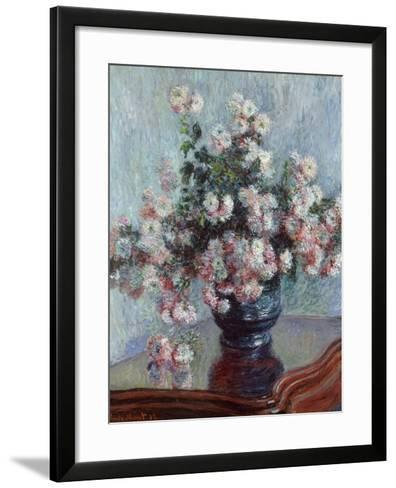 Chrysanthemums, 1882-Claude Monet-Framed Art Print