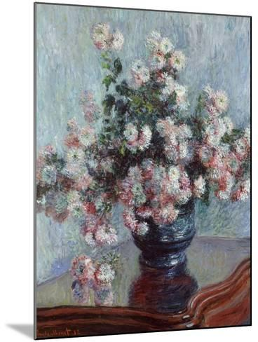 Chrysanthemums, 1882-Claude Monet-Mounted Giclee Print