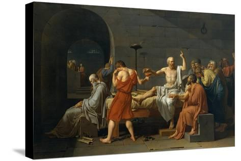 The Death of Socrates, 1787-Jacques Louis David-Stretched Canvas Print
