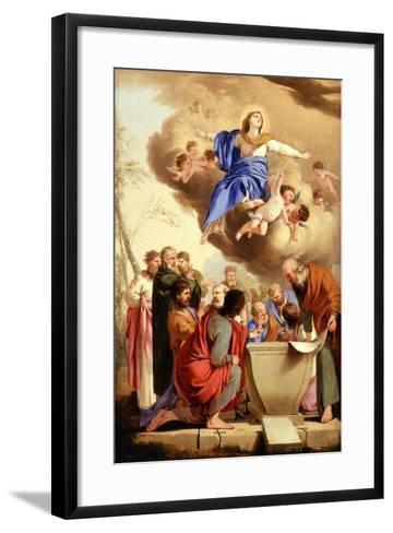 The Assumption, c.1653-5-Laurent de La Hire or La Hyre-Framed Art Print