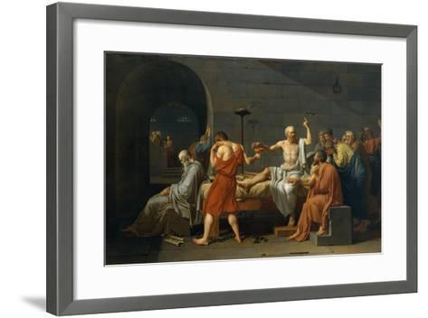 The Death of Socrates, 1787-Jacques Louis David-Framed Art Print