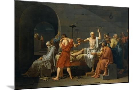 The Death of Socrates, 1787-Jacques Louis David-Mounted Giclee Print