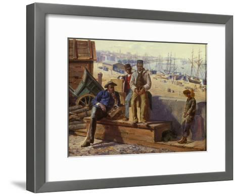 Negro Boys on the Quayside, c.1865-David Norslup-Framed Art Print