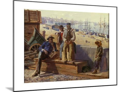 Negro Boys on the Quayside, c.1865-David Norslup-Mounted Giclee Print