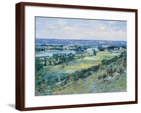 The Valley of the Seine, from the Hills of Giverny, 1892-Theodore Robinson-Framed Art Print