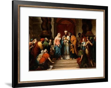 The Marriage of the Virgin, 1833-Jerome Martin Langlois-Framed Art Print