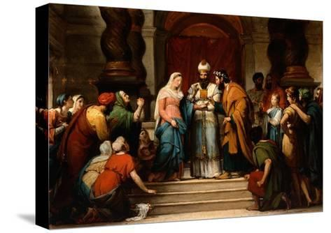 The Marriage of the Virgin, 1833-Jerome Martin Langlois-Stretched Canvas Print