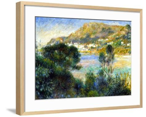 View From Cap Martin of Monte Carlo, c.1884-Pierre-Auguste Renoir-Framed Art Print