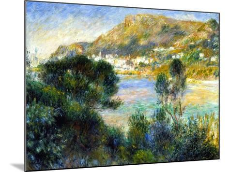 View From Cap Martin of Monte Carlo, c.1884-Pierre-Auguste Renoir-Mounted Giclee Print