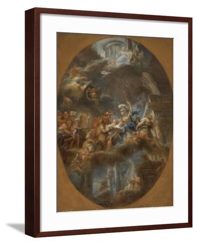Nobility Offering the Imperial Russian Children to Minerva, c.1795-Gabriel Francois Doyen-Framed Art Print