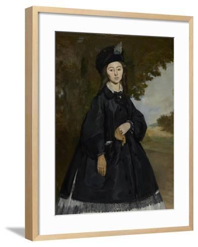 Portrait of Madame Brunet, c.1861-3-Edouard Manet-Framed Art Print