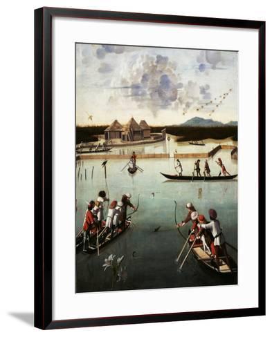Hunting on the Lagoon, c.1490-5-Vittore Carpaccio-Framed Art Print