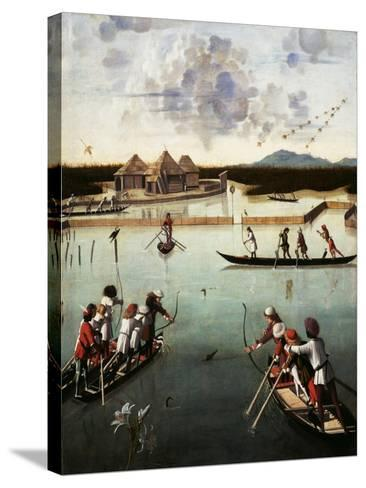 Hunting on the Lagoon, c.1490-5-Vittore Carpaccio-Stretched Canvas Print