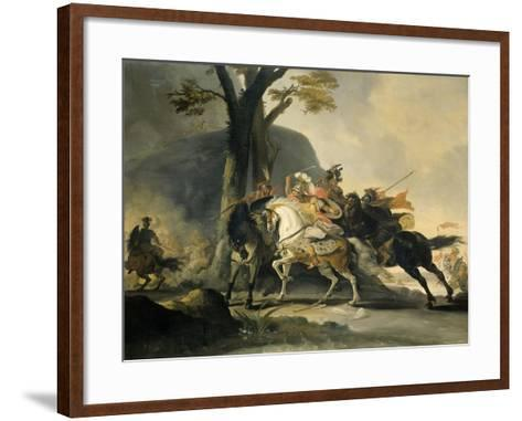 Alexander the Great at the Battle of the Granicus River in 334 BC against the Persians, 1737-Cornelis Troost-Framed Art Print