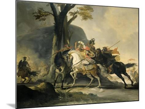 Alexander the Great at the Battle of the Granicus River in 334 BC against the Persians, 1737-Cornelis Troost-Mounted Giclee Print