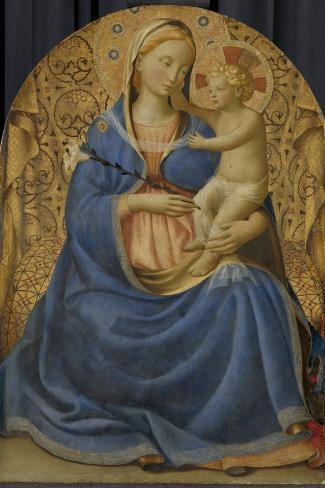 Madonna of Humility, c.1440-Fra Angelico-Stretched Canvas Print