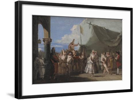 The Triumph of Pulcinella, 1753-54-Giovanni Battista Tiepolo-Framed Art Print