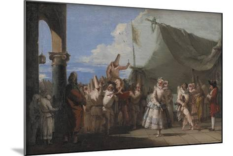 The Triumph of Pulcinella, 1753-54-Giovanni Battista Tiepolo-Mounted Giclee Print