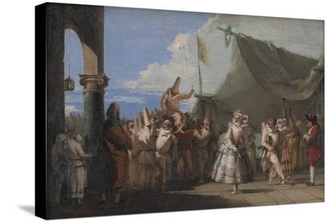 The Triumph of Pulcinella, 1753-54-Giovanni Battista Tiepolo-Stretched Canvas Print