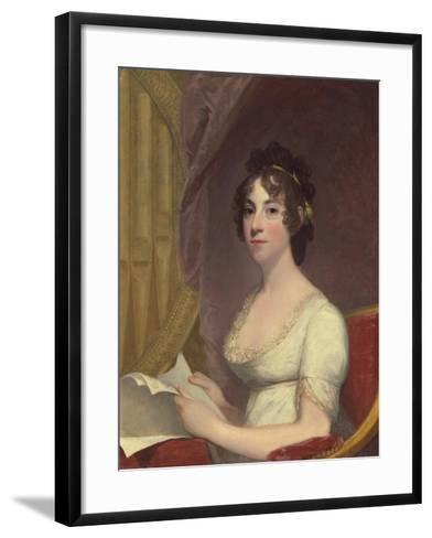 Anna Maria Brodeau Thornton (Mrs. William Thornton), 1804-Gilbert Stuart-Framed Art Print
