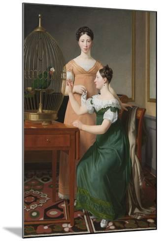 Bella and Hanna. The Eldest Daughters of M.L. Nathanson, 1820-Christoffer-wilhelm Eckersberg-Mounted Giclee Print
